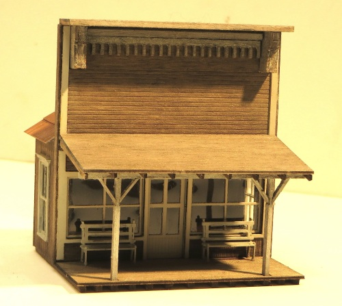 In HO-scale this kit from RSlaser is for the Deadwood Gazette. I purchased the facade-only version because I knew I wanted to keep the depth of the building to a minimum.