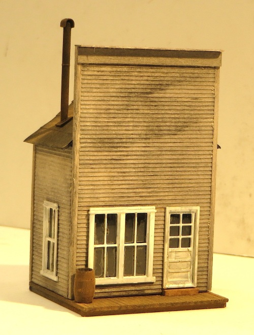 The telegraph office from B.E.S.T also makes a nice tiny, HO-scale background building.