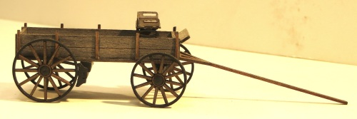 Somewhat unrelated, but picked up at the same convention is this Grizzly Mtn. Engineering farmer's wagon in O-scale.