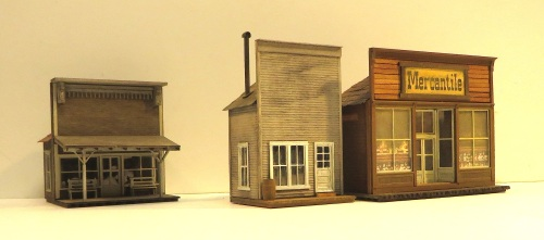 And here are the HO-scale structures.